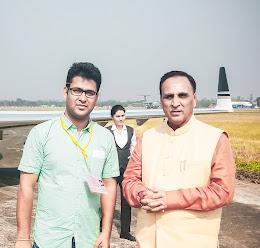 Pranab Kr Nath: Picture taken with Gujarat CM