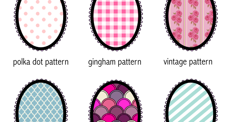 Free Printable Pattern Glossary With Oval Tags