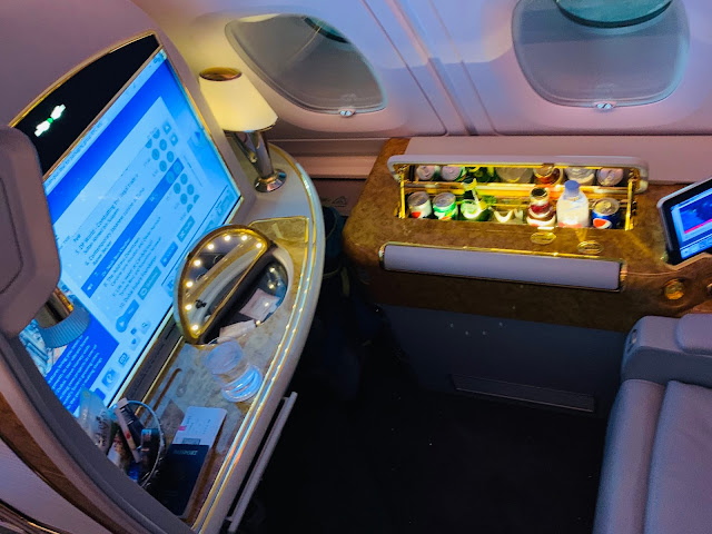 Review: Emirates EK231 First Class A380 Dubai (DXB) to Washington DC (IAD)