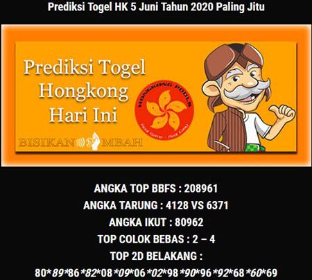 Prediksi HK Malam Ini 05 Juni 2020 - Bisikan Mbah