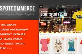 SpotCommerce v1.5.0 – Responsive Shopping Blogger Template