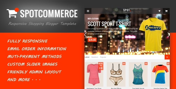 SpotCommerce v1.5.0 – Responsive Shopping Blogger Template