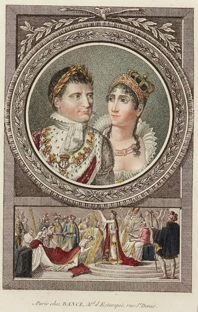 Napoléon et Joséphine gravure