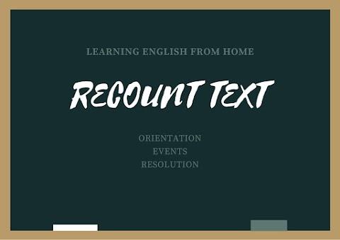 Contoh Recount Text, Soal dan Pembahasan