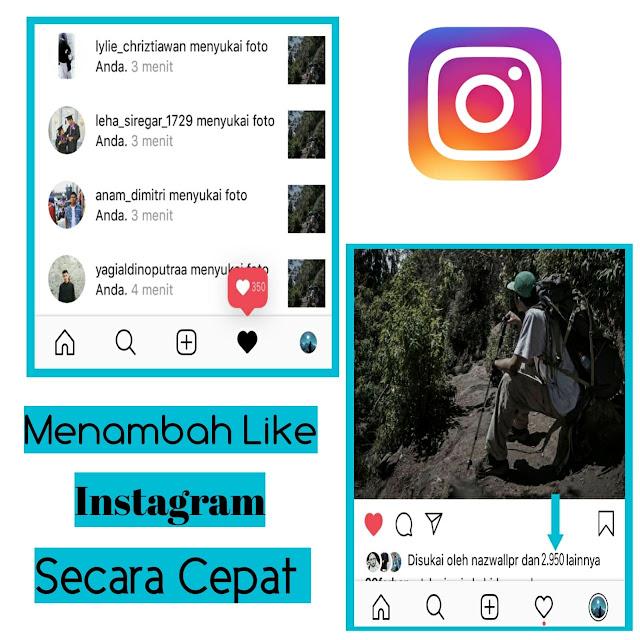 Cara memperbanyak like di Instagram dengan cepat 2019