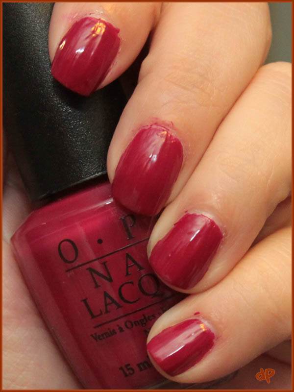 The one with OPI My Throne for a Cranberry Scone+Teenage Dream ...