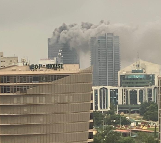 NEWS: Fire outbreak at the World Trade Center Abuja (photos/video)