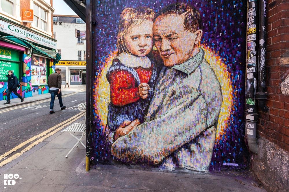 Jimmy C aka James Cochran - Brick Lane Street Art on Fashion Street, London