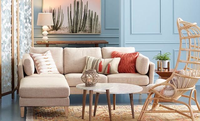 neutral boho small living room design ideas world market