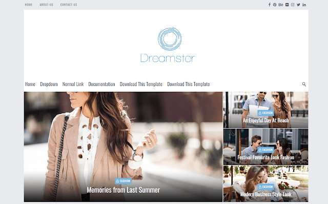 Dreamster Blogger Template