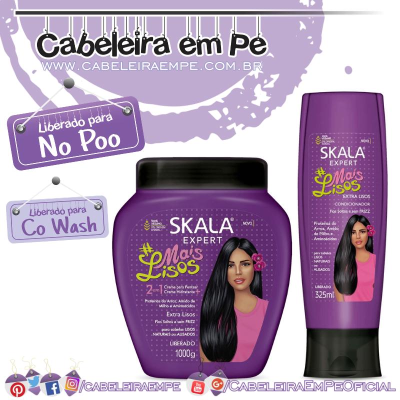 Condicionador e Creme de Tratamento #MaisLisos - Skala (No Poo e Co Wash)
