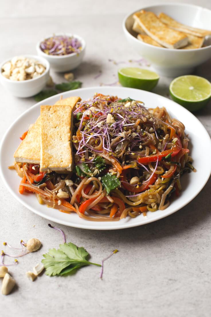 Pad Thai Recipe | danceofstoves.com #vegan