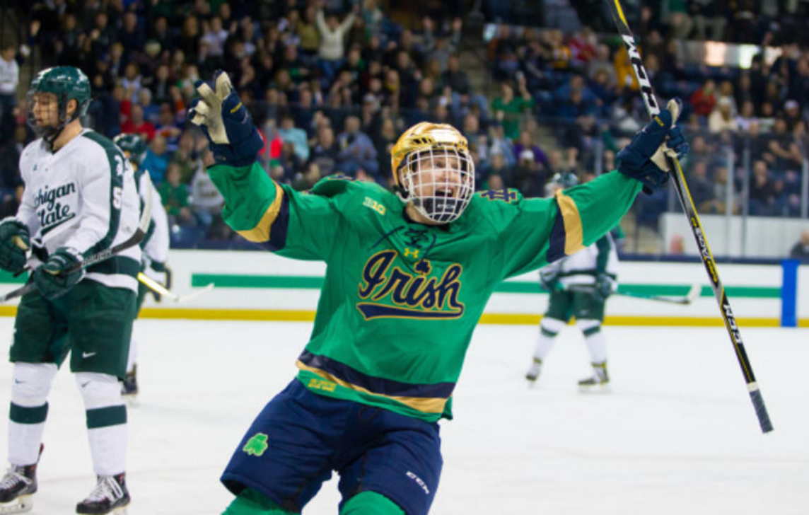 071ab7e2b7a #3 Notre Dame Hockey plays #4 Ohio State for the Big Ten Hockey Tournament  Championship tonight at 8 PM ET on the Big Ten Network.