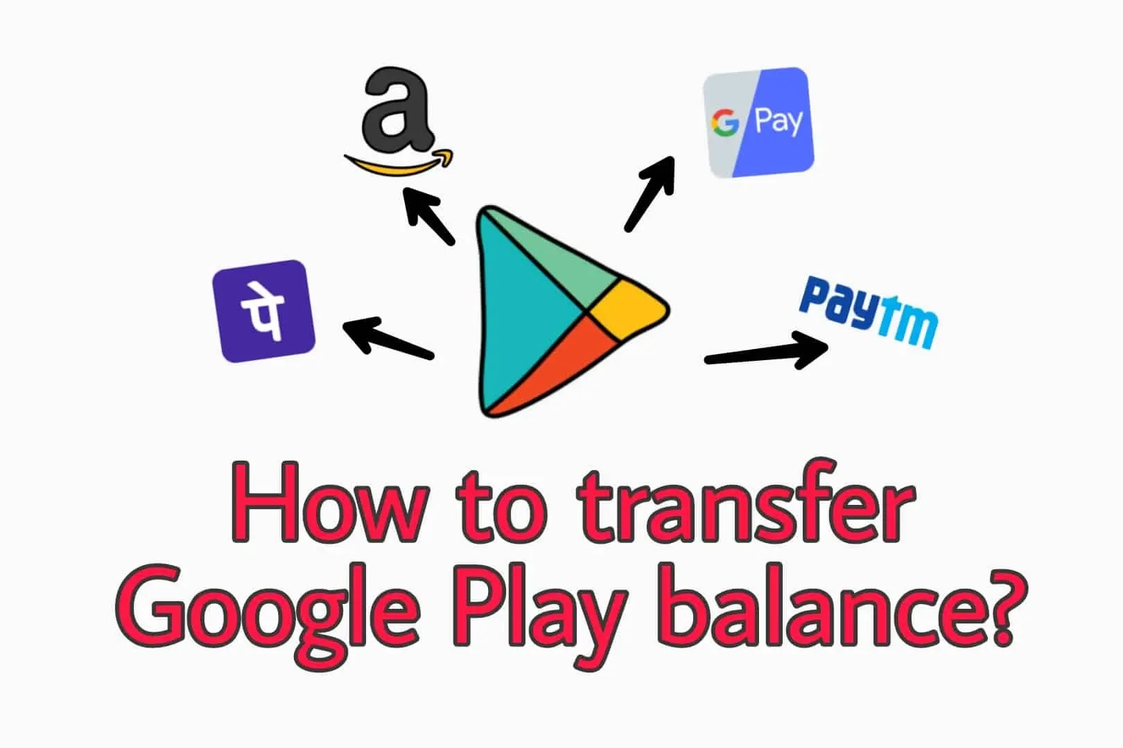 How to transfer Google Play balance to Bank account, Amazon, PayPal or Paytm