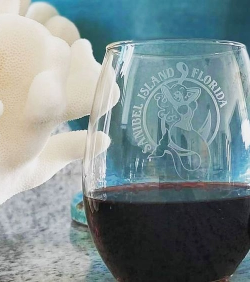 Mermaid Etched Drinking Glasses