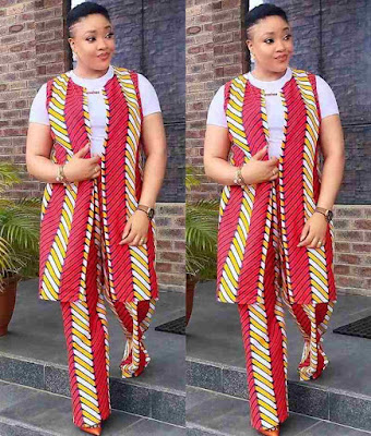 Latest Ankara Jacket and Ankara Pants For Ladies