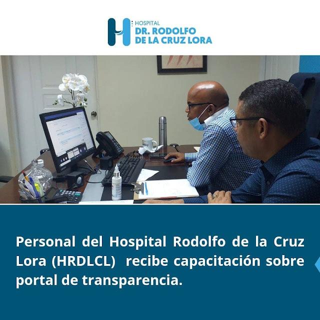 Hospital Rodolfo de la Cruz Lora capacita  personal para implementar portal de transparencia
