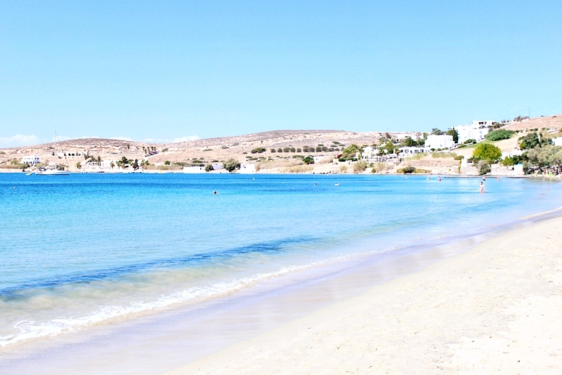 Livadia sandy organized beach in Paros island