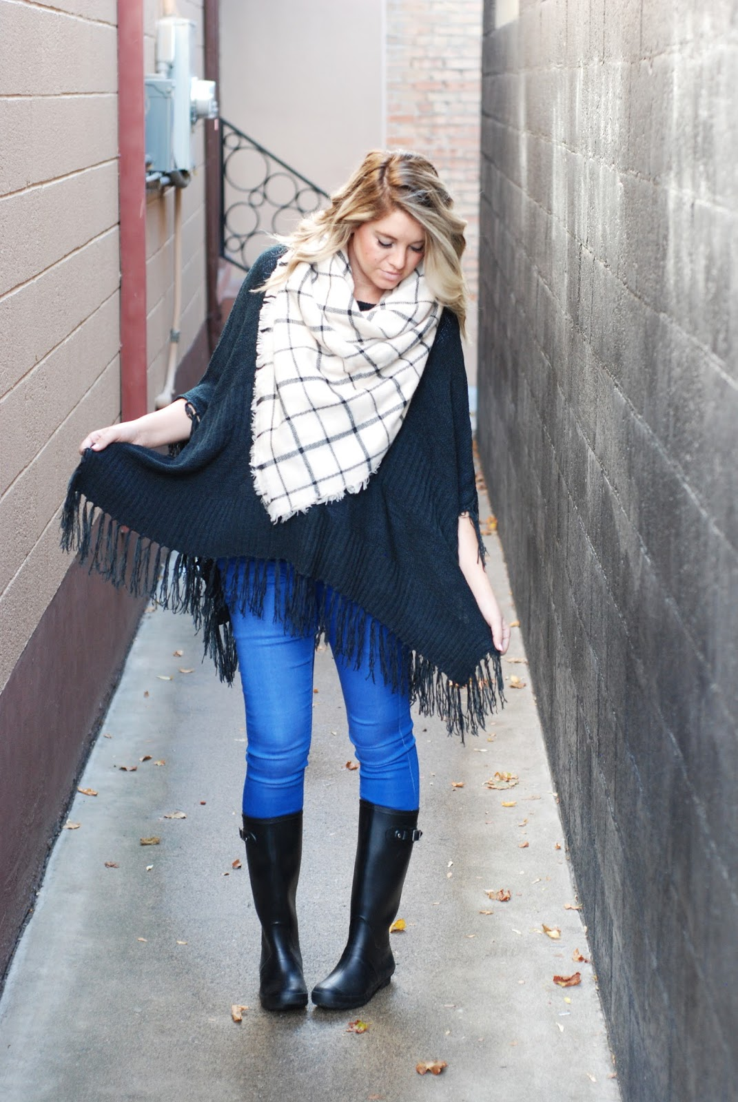 Poncho, BB Styled, Utah Fashion Blogger, Fall Outfit