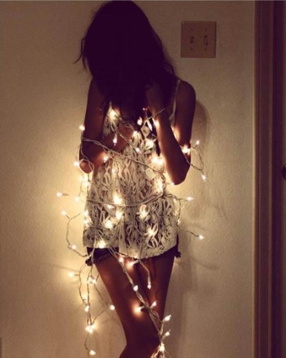 Fotos tumblr con luces de navidad que te haran ver única