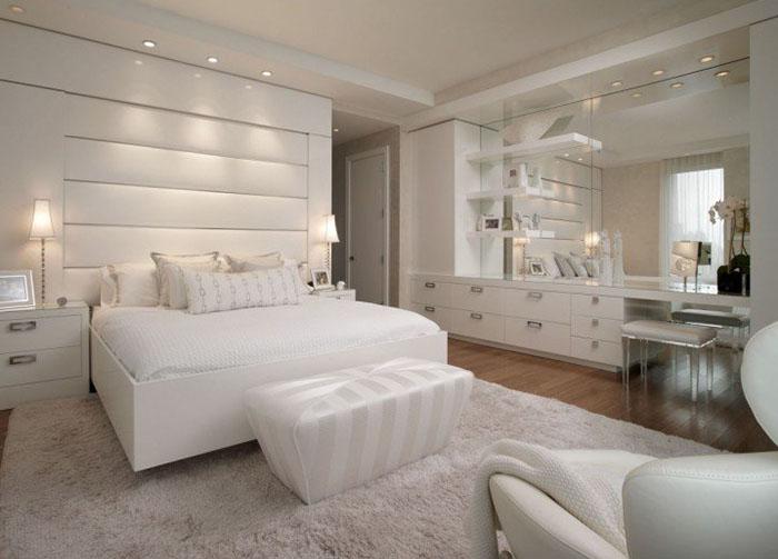 romantik beyaz yatak odası örneği