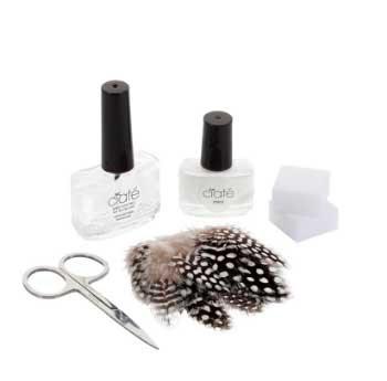 kit de manicura plumas