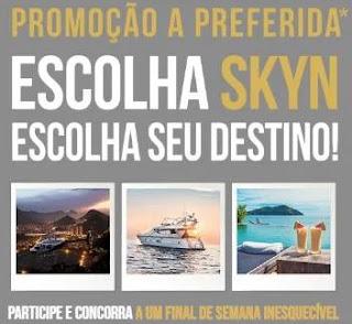 Cadastrar Promoção Skyn A Preferida - Final De Semana Inesquecível