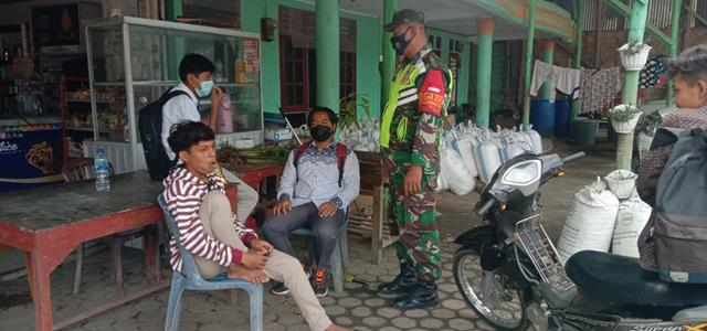 Secara Komunikasi Sosial Personel Jajaran Kodim 0207/Simalungun Sampaikan Pentingnya Pakai Masker