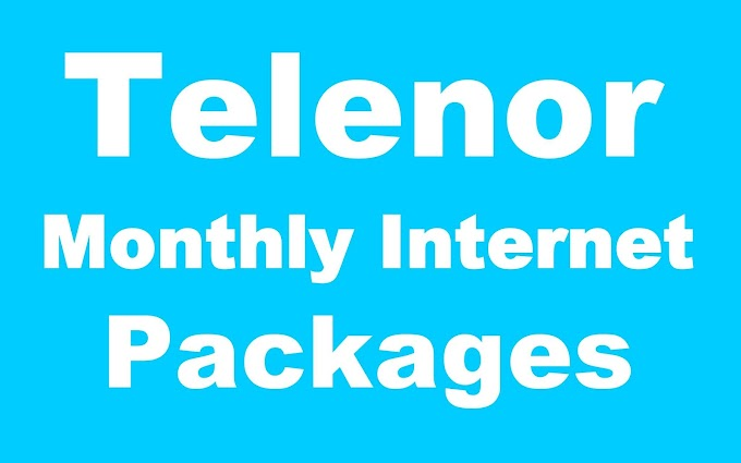 Telenor Monthly Internet Packages - Price & Details