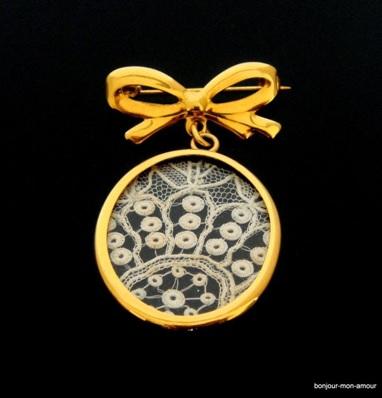 biżuteria vintage broszka vintage kokarda stara biżuteria gdzie kupić biżuterię