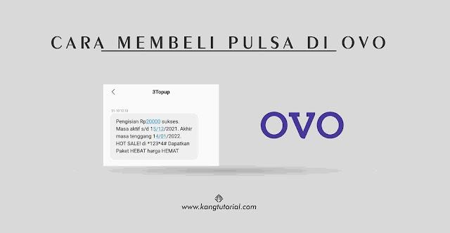 Cara Beli Pulsa di Aplikasi OVO