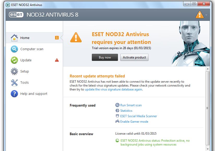 Download Eset Nod32 Antivirus 8 + Update key User password