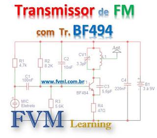 Circuito Transmissor de FM com Transistor BF494