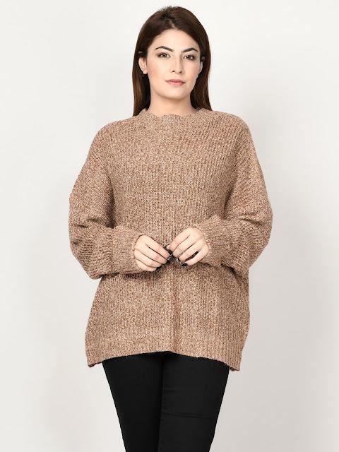 Limelight peach color sweaters for women winter wear