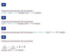 Contoh Soal Persamaan Trigonometri