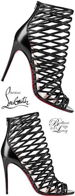Brilliant Luxury ♦ Christian Louboutin Mille Cinque Lattice Red Sole Bootie #black