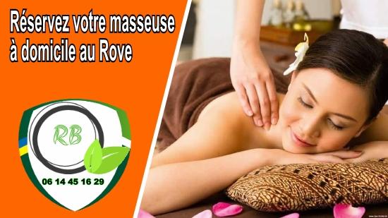 Réservez votre masseuse à domicile au Rove;