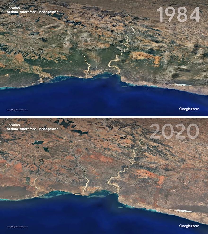 Эрозия почвы на Мадагаскаре