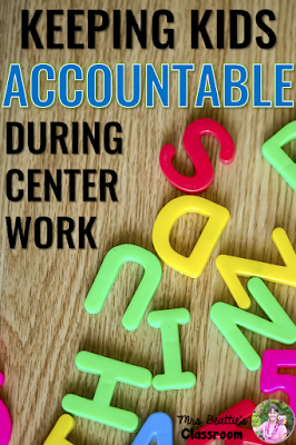 Are you a teacher wondering how to monitor your students' productivity during independent centers? This post is for you! I have tips and resources to easily keep your students accountable for their work during centers!