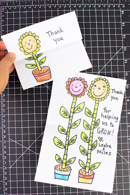 Surprise Growing Card Craft- Perfect for appreciating teachers at the end of the year