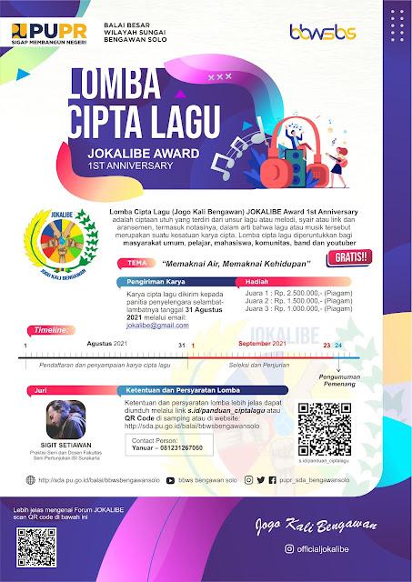 Lomba Cipta Lagu Berhadiah Uang Tunai Jutaan Rupiah oleh JOKALIBE