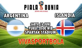 Prediksi Bola Argentina vs Islandia 16 Juni 2018