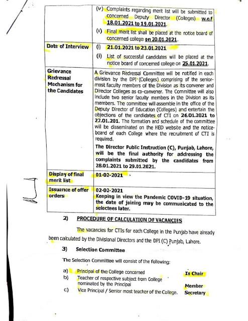 New CTI Jobs 2021-2022 at Punjab Universities - 3000+ Jobs - CTI Jobs 2021 Punjab Application Form - List of Penjal Universities 2021