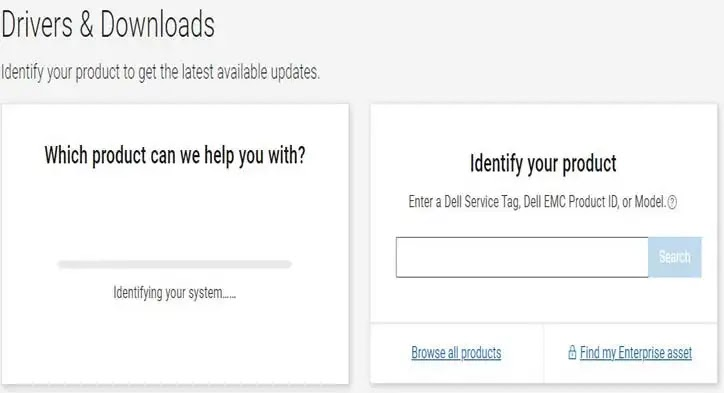Dell Support Page