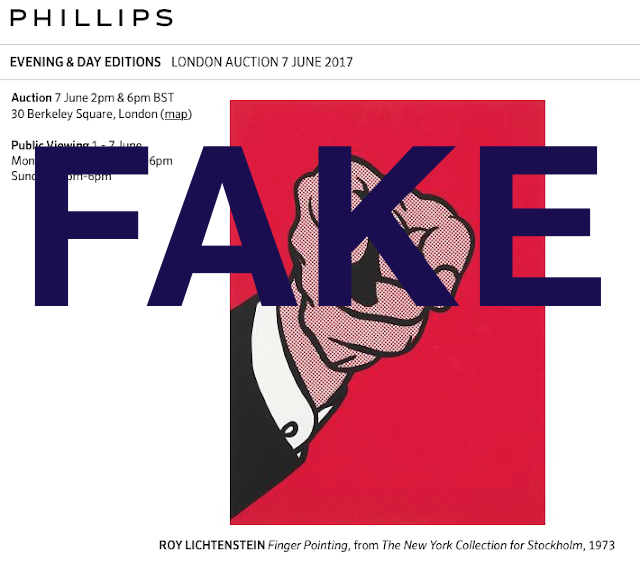Fake Finger Pointing, withdrawn Phillips London, June 7, 2017