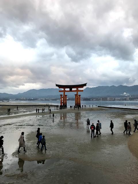Itsukushima torii low tide
