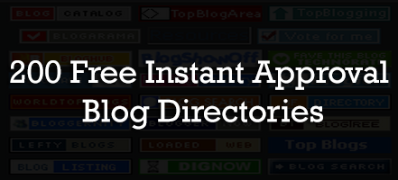 200 Free Instant Approval Blog Directories : eAskme