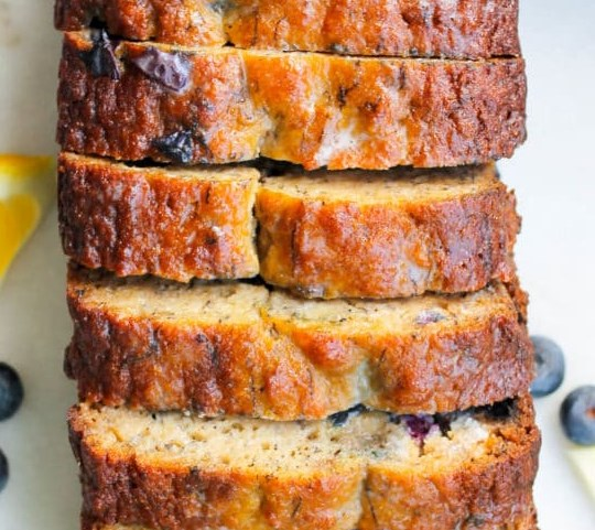 PALEO LEMON BLUEBERRY BREAD #glutenfree #healthy