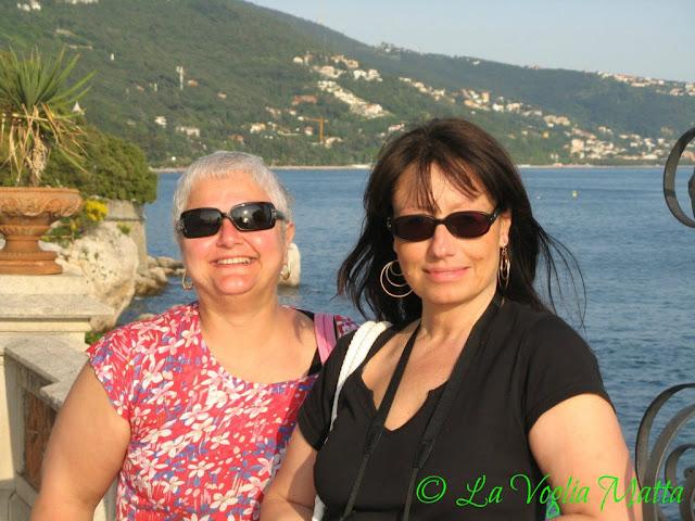 Marina e Chiara al Castello di Miramare a Trieste