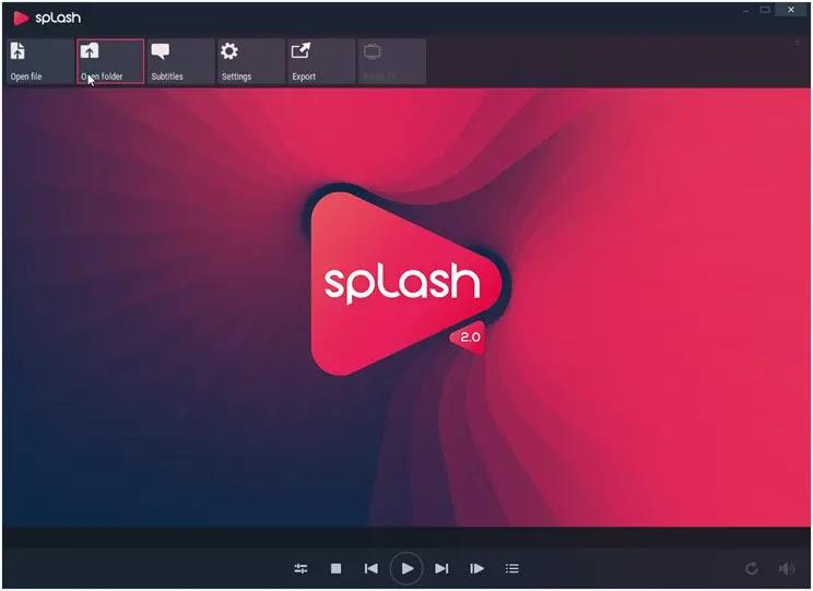 Splash :  Πρωτοποριακός Video Player